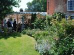 The garden and pergola.