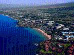 A View from the Sky above Wailea Beach Villas - Look for Red Rooftops in Center Area