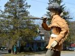 Davy Crocket watches over Main Street