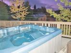 Relax and enjoy the view of Park City from your private outdoor hot tub