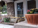Porch swing on great front porch