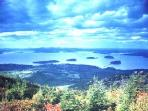 View of Bar Harbor from Mt. Cadillac