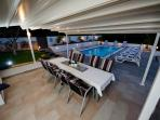 pool and garden furniture