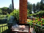 barbecue in veranda