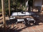 Alfresco dining on the hand made moroccan dining suite