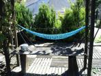 Why not relax with your favourite book and a chilled glass of wine in the hammock