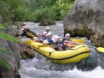 Rafting on the Cetina river fun