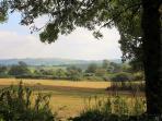Stunning views from the garden towards Bulbarrow Hill