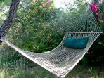 Private outdoor hammock.