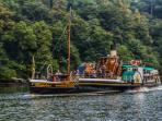 Kingswear Castle Paddle Steamer,built in 1924 & now restored & returned to the River Dart on charter