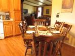 Eat in kitchen; cookware; dinnerware; etc.