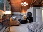 Amenities | Sectional couch w/ pullout. Wi-Fi enabled TV/ Cable/ DVR/ Apple TV/ Xbox. View