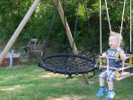 Swinging in the sun!