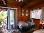 One of two downstairs bedrooms - this one has two twin beds
