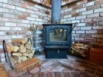 Wood stove & separate heater as well - nice ambiance and heat!