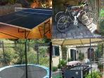 bike#biciclette#ping pong#trampolino#soccer table#biliardino#bocce#pallavolo#