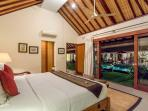 3 bedroom villa standard bedroom south with view to the pool