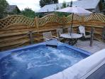 Have a theraputic massage in your own private hot tub