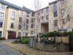 Pretty courtyard behind Blair Angus apartment