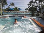 Or take a dip in our hotbub - open all year long!!