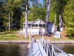 View from Dock to House