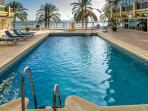 Swimming pool next to the beach