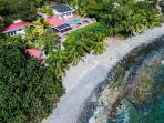 Fabulous & Private Beachfront Villa for 2-10!