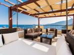 Roof Terrace with Seating Area and Panoramic Sea Views