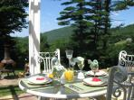 Breakfast or Romantic Dinner Alfresco on the Patio At The Main House
