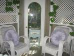 Private Gazebo is included in Primrose rental it has power and light for evening enjoyment ,just bring out the music...