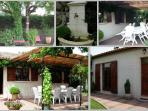 Jardin clos et sans vis à vis, terrasse avec pergola et barbecue.