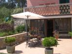 Front view outdoor dining