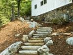 Rock Steps up to House