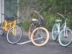 3  Bikes and several surfboards including a  8'  Long board comes with unit rental