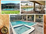 south facing extended private heated pool and deck, with jacuzzi and spacious lanai