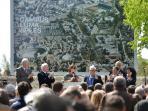 Frank Gehry at Luma Project Arles meeting