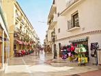 San Miguel street, Torremolinos, 5 minutes by bus, main shopping ( gifts etc )
