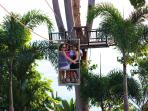 traveling across the resort to our tree platform