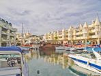 beautiful Benalmadena marina 10 minutes walk