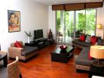 Living Room With Sliding Doors To Terrace