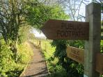 Beautiful Yorkshire Wolds accessible by footpath from Pocklington