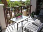 Lake view furnished patio