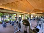 Maintain your cardio or strength training in the fully equipped fitness centre