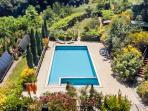 Pool and wineyard sight