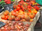 Buy delicious produce from the farmers market at Place Carnot.