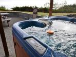 Enjoy the hot tub with ocean views!