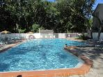 Amelia Landings:  We have a very large pool that everyone enjoys anytime time of day!