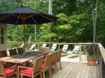 Huge wraparound deck for outdoor dining, barbecues and relaxation