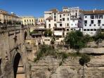 Stunning historical town of Ronda in the mountains, 1.5 hour drive and well worth a visit.