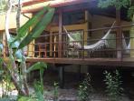 The villa has private tropical gardens